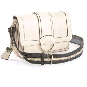 Nwt sammy cream handbag fo snake skin